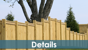 Square Box Type Wood Fence - Fence Contractors